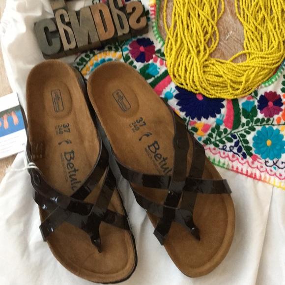 283ee7eac789a5 BIRKENSTOCK Betula  Vinja  Brown Croc Sandals